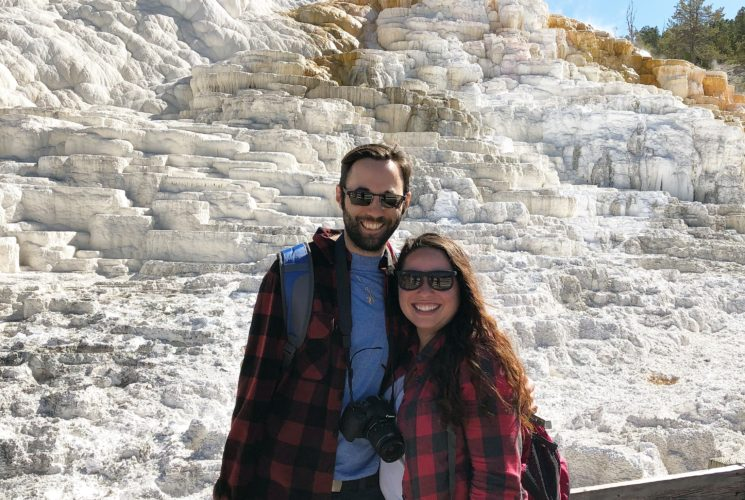 Honeymoon Couple in Yellowstone National Park