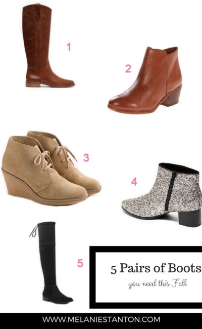 5 Pairs of Boots You Need This Fall