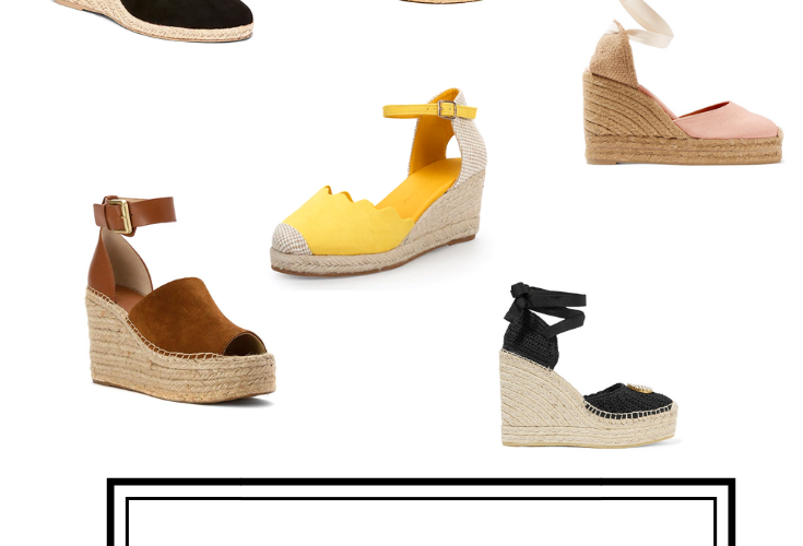 compilation of espadrille wedges and every price point, including Old Navy, Marc Fisher, J.Crew, Castaner, and Target